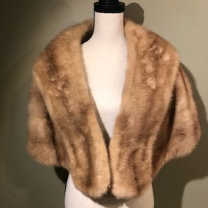 Jackets & Blazers - Real Mink - Shoulder Cover